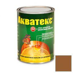 Защитно-декоративное покрытие Акватекс для древесины тик 0,8 л