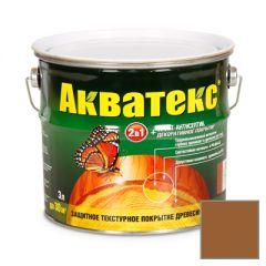 Защитно-декоративное покрытие Акватекс для древесины тик 3 л