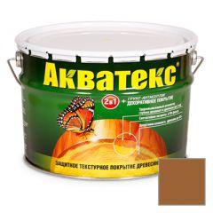 Защитно-декоративное покрытие Акватекс для древесины тик 10 л