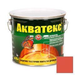 Защитно-декоративное покрытие Акватекс для древесины рябина 3 л