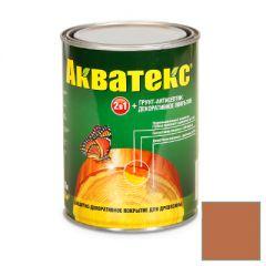 Защитно-декоративное покрытие Акватекс для древесины махагон 0,8 л