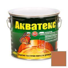 Защитно-декоративное покрытие Акватекс для древесины махагон 3 л