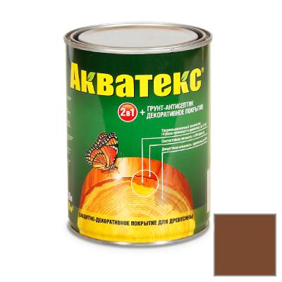 Защитно-декоративное покрытие Акватекс для древесины палисандр 0,8 л