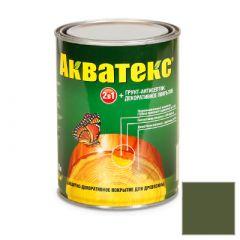 Защитно-декоративное покрытие Акватекс для древесины еловая зелень 0,8 л
