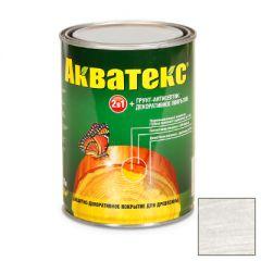 Защитно-декоративное покрытие Акватекс для древесины белый 0,8 л