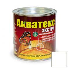 Защитно-декоративное покрытие Акватекс Экстра для древесины белый 0,8 л