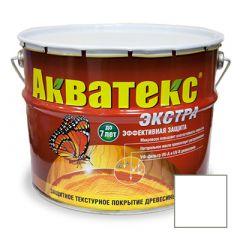 Защитно-декоративное покрытие Акватекс Экстра для древесины белый 10 л