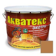 Защитно-декоративное покрытие Акватекс Экстра для древесины калужница 10 л