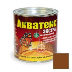 Защитно-декоративное покрытие Акватекс Экстра для древесины орех 0,8 л
