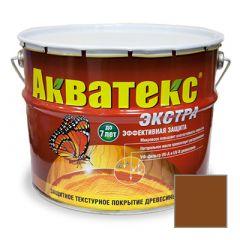 Защитно-декоративное покрытие Акватекс Экстра для древесины орех 10 л