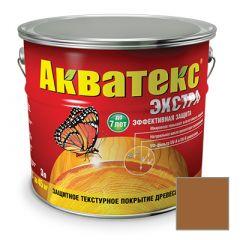 Защитно-декоративное покрытие Акватекс Экстра для древесины тик 3 л
