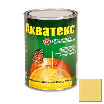 Защитно-декоративное покрытие Акватекс для древесины сосна 0,8 л
