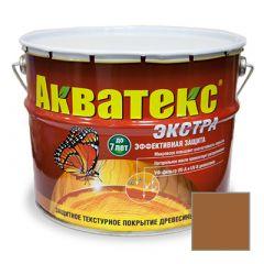 Защитно-декоративное покрытие Акватекс Экстра для древесины тик 10 л