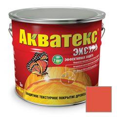 Защитно-декоративное покрытие Акватекс Экстра для древесины рябина 3 л