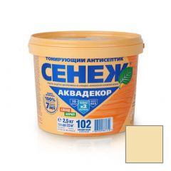 Защитно-декоративное покрытие Сенеж Аквадекор 102 Прозрачный 2,5 кг