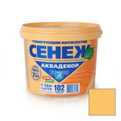 Защитно-декоративное покрытие Сенеж Аквадекор 103 Сосна 2,5 кг