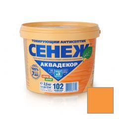Защитно-декоративное покрытие Сенеж Аквадекор 104 Лиственница 2,5 кг