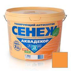 Защитно-декоративное покрытие Сенеж Аквадекор 104 Лиственница 9 кг