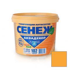 Защитно-декоративное покрытие Сенеж Аквадекор 105 Калужница 2,5 кг