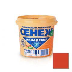 Защитно-декоративное покрытие Сенеж Аквадекор 107 Каштан 0,9 кг