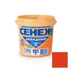 Защитно-декоративное покрытие Сенеж Аквадекор 108 Черешня 0,9 кг