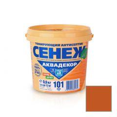 Защитно-декоративное покрытие Сенеж Аквадекор 109 Орех 0,9 кг