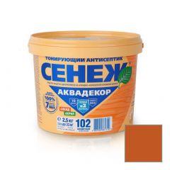 Защитно-декоративное покрытие Сенеж Аквадекор 109 Орех 2,5 кг