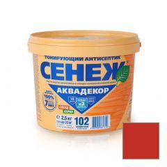 Защитно-декоративное покрытие Сенеж Аквадекор 110 Махагон 2,5 кг