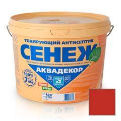 Защитно-декоративное покрытие Сенеж Аквадекор 110 Махагон 9 кг
