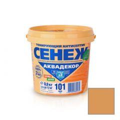 Защитно-декоративное покрытие Сенеж Аквадекор 112 Дуб 0,9 кг