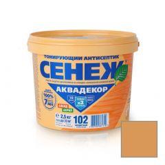 Защитно-декоративное покрытие Сенеж Аквадекор 112 Дуб 2,5 кг