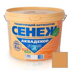 Защитно-декоративное покрытие Сенеж Аквадекор 112 Дуб 9 кг