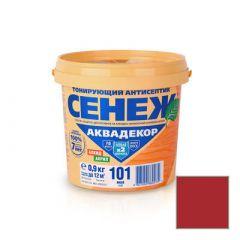 Защитно-декоративное покрытие Сенеж Аквадекор 113 Слива 0,9 кг