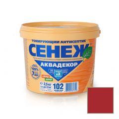 Защитно-декоративное покрытие Сенеж Аквадекор 113 Слива 2,5 кг