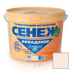 Защитно-декоративное покрытие Сенеж Аквадекор 101 Иней 9 кг