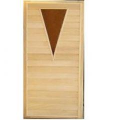 Дверь деревянная, липовая, со стеклом, 700х1900 мм