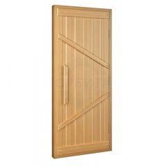 Дверь деревянная, хвоя, 800х2000 мм, с коробкой