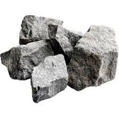 Камень для печей Порфирит Огненный камень Белый с серыми прожилками 20 кг