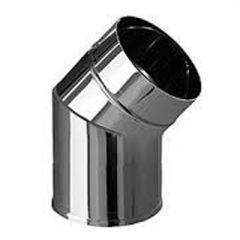 Дымоход нержавеющий одностенный Феррум толщ. 0,5 мм Колено трубы D-110 мм, угол 135 град.