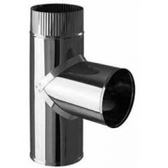 Дымоход нержавеющий одностенный Феррум толщ. 0,8 мм Тройник D-150 мм, угол 90 град.