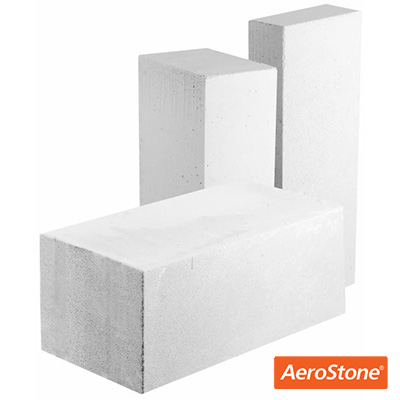 Блок из ячеистого бетона Aerostone газосиликатный перегородочный D600 625х250х75 мм