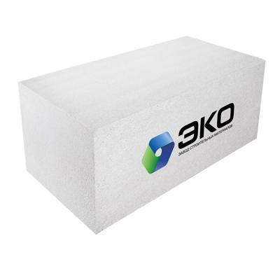 Блок из ячеистого бетона ЭКО газосиликатный D500 600х250х100 мм