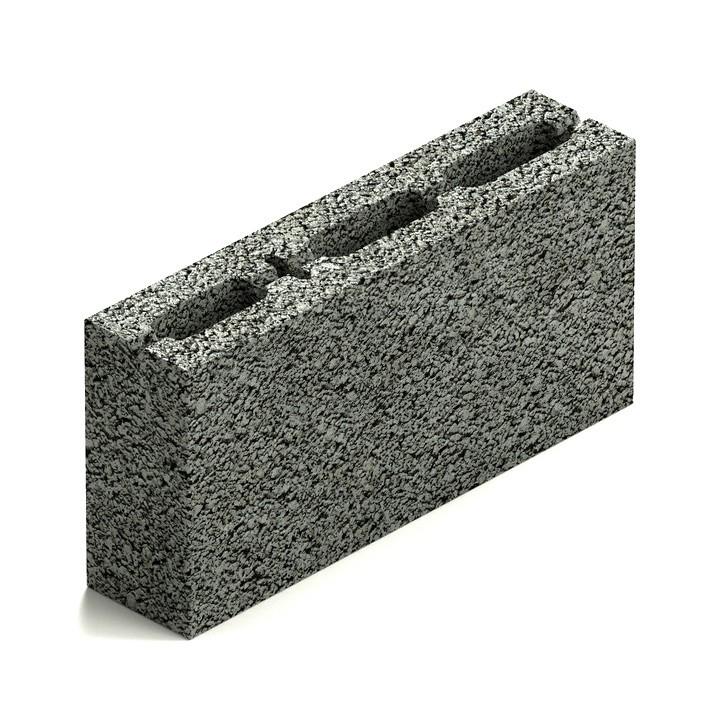 Блок керамзитобетонный перегородочный трехпустотный Steingot М50 390х90х188 мм