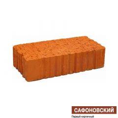 Кирпич строительный КЗ Сафоновский одинарный полнотелый рифленый М-125