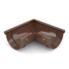 Угол желоба Водостокстрой коричневый 90-135° 125х250х250 мм