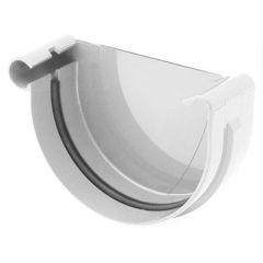 Заглушка желоба Водостокстрой белая 125 мм