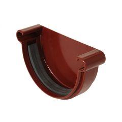 Заглушка желоба Водостокстрой темно-красная 125 мм
