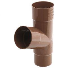 Тройник Водостокстрой коричневый 75° 100х390 мм