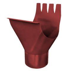 Воронка выпускная Водостокстрой темно-красная 95 мм