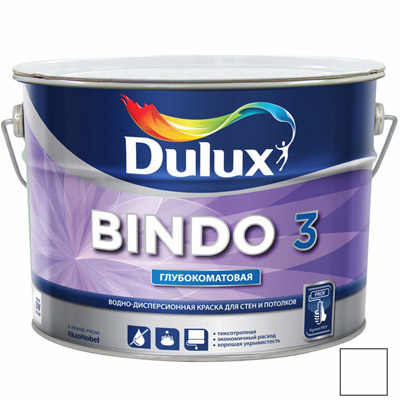 Краска Dulux Bindo 3 BW 10 л